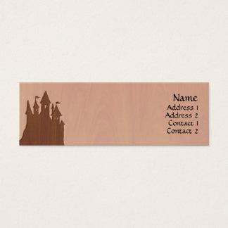 Cartes de profil de château de conte de fées