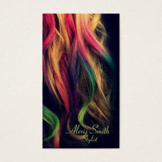 Cartes de profil de coiffeur d'arc-en-ciel