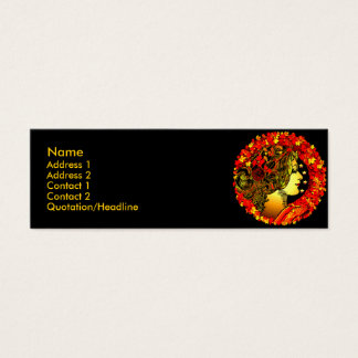 Cartes de profil de l'entrée de l'automne
