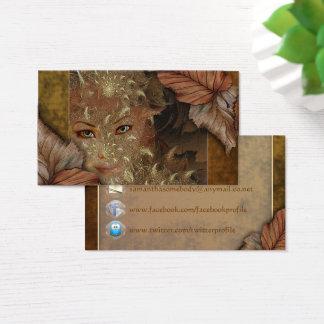 Cartes de profil de nymphe en bois d'automne