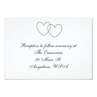 """Cartes de réception """"de coeurs de verrouillage"""" carton d'invitation 8,89 cm x 12,70 cm"""