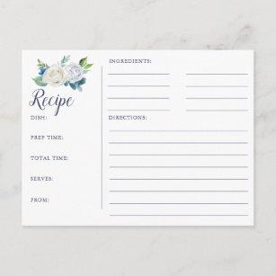 Cartes de recette de Fête de l'mariée de fleurs
