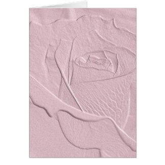 Cartes De relief doucement rose de rose