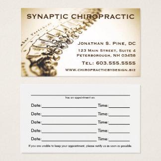 Cartes de rendez-vous de chiroprakteur