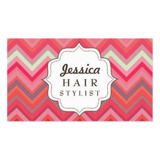 Cartes de rendez-vous de coiffeur de motif de Chev Carte De Visite Standard