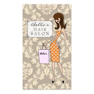 Cartes de rendez-vous de salon de coiffure de dama cartes de visite personnelles