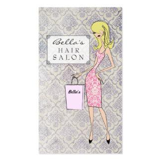 Cartes de rendez-vous de salon de coiffure de dama modèles de cartes de visite