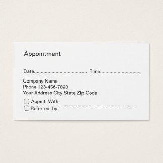 Cartes de rendez-vous et de référence d'affaires