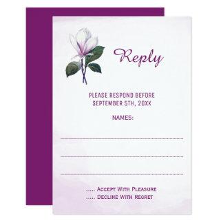 Cartes- de réponse de mariage de magnolia carton d'invitation 8,89 cm x 12,70 cm