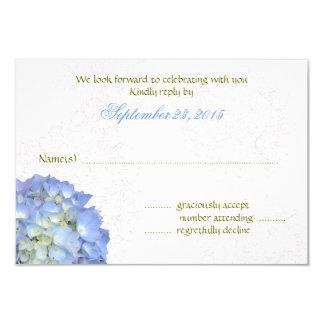 Cartes- de réponse de mariage d'hortensia d'art de carton d'invitation 8,89 cm x 12,70 cm