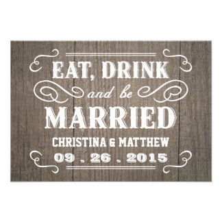 Cartes- de réponse en bois occidentales de mariage