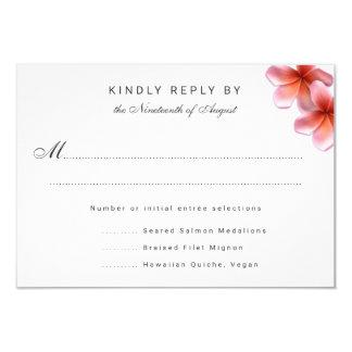 Cartes- de réponse roses de menu de mariage de carton d'invitation 8,89 cm x 12,70 cm
