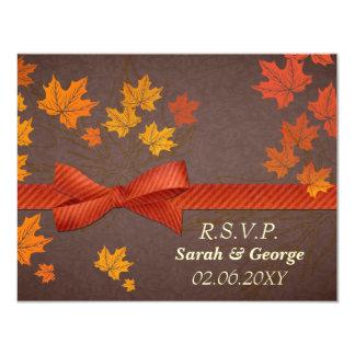 cartes de rsvp de mariage de automne