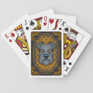 cartes de schnauzer cartes à jouer