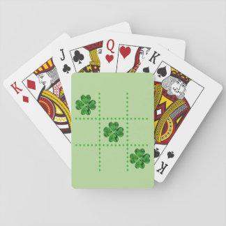 Cartes de shamrocks de Tic-TAC-Orteil du jour de Jeux De Cartes