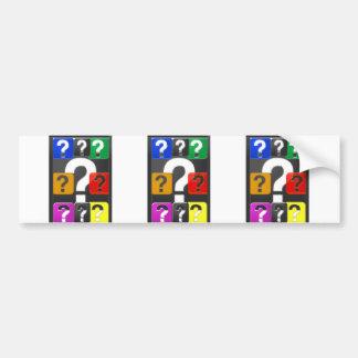 Cartes de symbole de QUESTIONS, aimant, bouton, Autocollant De Voiture