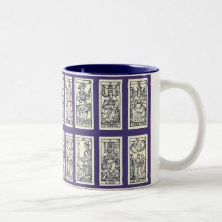Cartes de tarot espagnoles vintages mug bicolore