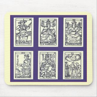 Cartes de tarot espagnoles vintages tapis de souris