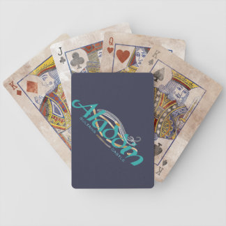 Cartes de tisonnier de bicyclette de château de jeu de cartes