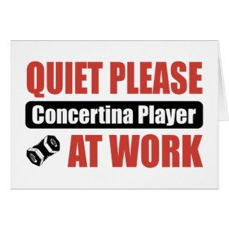 Cartes De tranquillité joueur en accordéon svp au travail