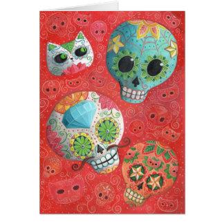 Cartes De trois jours des crânes morts