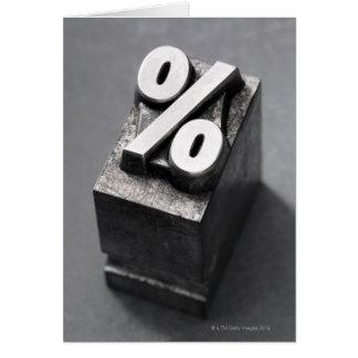 Cartes % de type d'impression typographique
