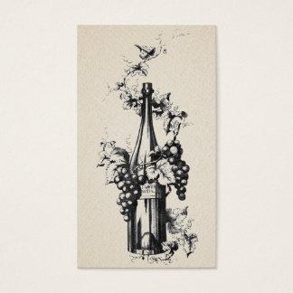 Cartes De Visite 1873 bouteilles de vin vintages avec des raisins