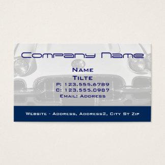 Cartes de visite 1960 d'entrée de Corvette