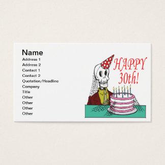 Cartes De Visite 30ème heureux