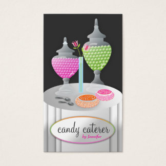 Cartes De Visite 311-Candy charbon de bois du traiteur |