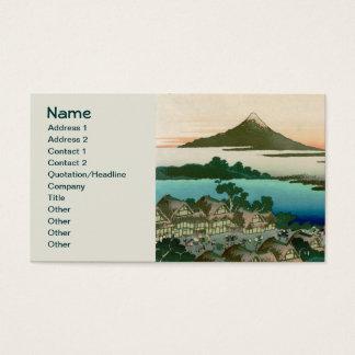 Cartes De Visite 36 vues du mont Fuji, cru fin de Hokusai