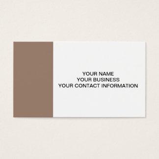 Cartes De Visite À extrémité élevé de Brown de castor coloré
