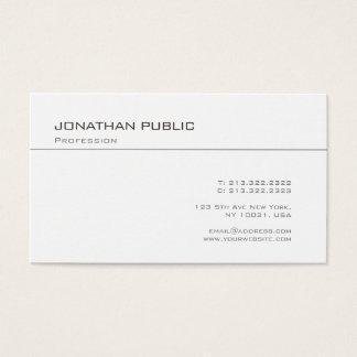 Cartes De Visite À la mode simple chic de Minimalistic de