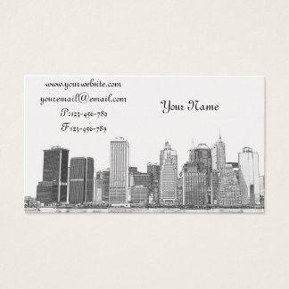 Cartes De Visite abaissez l'horizon de Manhattan, New York City