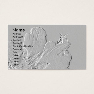 Cartes De Visite Abeille sur la conception de pétales de fleur
