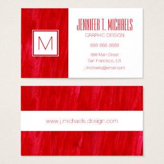 Cartes De Visite Abrégé sur et aquarelle sans couture rouges
