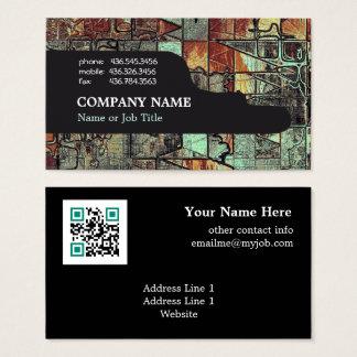 Cartes De Visite Abrégé sur moderne professionnel code d'entreprise