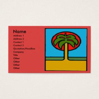 Cartes De Visite Abrégé sur palmier