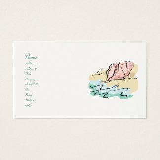 Cartes de visite abstraits de coquillage