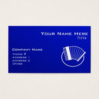 Cartes De Visite Accordéon bleu