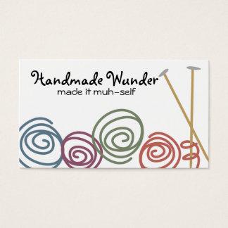 Cartes De Visite affaires colorées c d'aiguilles de tricot de