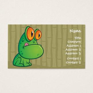 Cartes De Visite Affaires Crad de grenouille de bande dessinée