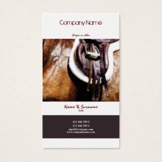 Cartes De Visite Affaires de cheval lançant l'art équestre