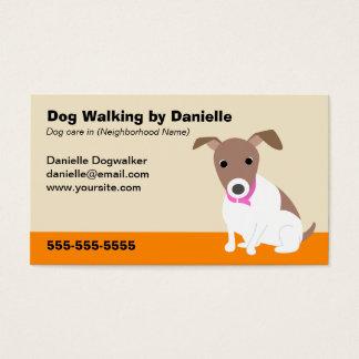 Cartes De Visite Affaires de marche de chien