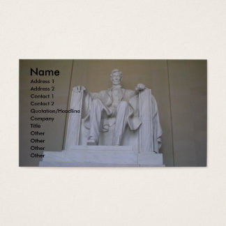 Cartes De Visite Affaires de mémorial d'Abraham Lincoln