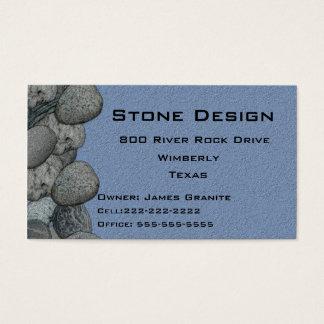 Cartes De Visite Affaires de paysage/maçon en pierre