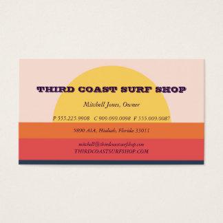 Cartes De Visite Affaires de professionnel de magasin de surf de