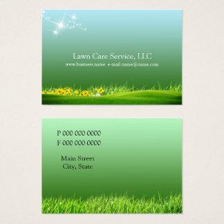 Cartes De Visite affaires de soin de pelouse