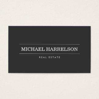 Cartes De Visite Affaires gris-foncé de vrai agent immobilier