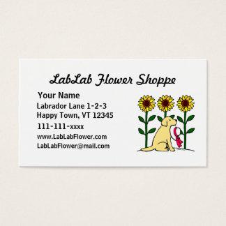 Cartes De Visite Affaires jaunes de fleur de Labrador